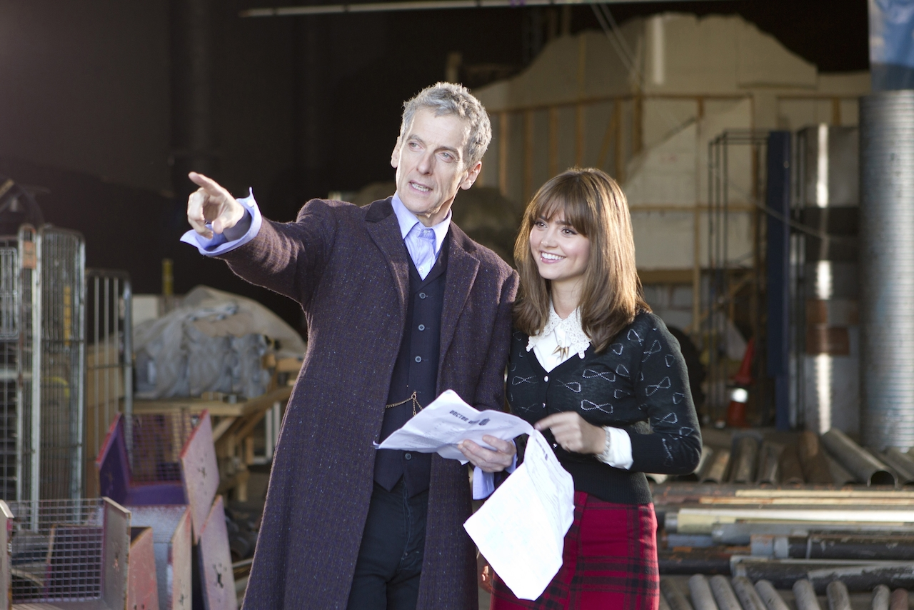Peter Capaldi and JennaColeman